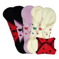 - Unsere bedruckten Herzchen Slipeinlagen in Frottee sind ab sofort wieder erhältlich. Es gibt 5 verschiedene Varianten