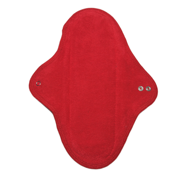 panty liner REGULAR RED with wings washable - eco cotton