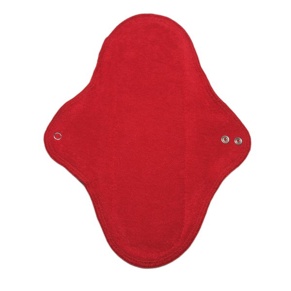 cloth pad STRONG RED with wings washable - eco cotton