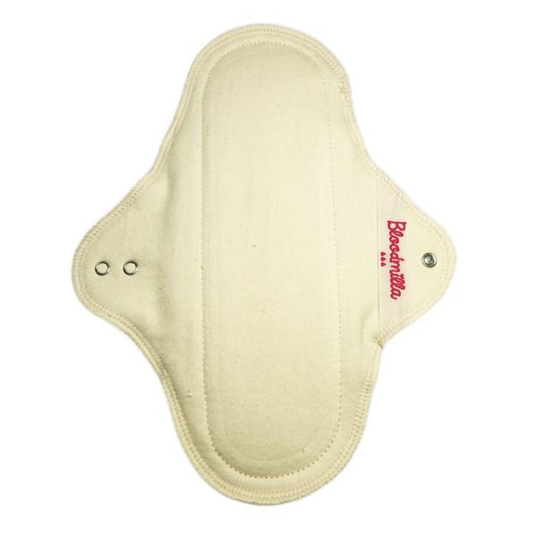 panty liner STRONG ECRU with wings washable - eco cotton