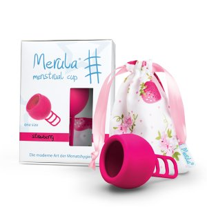 Merula Menstruationstasse strawberry