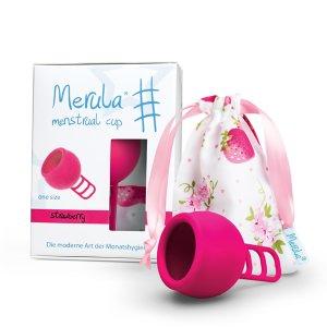 "Merula Menstruationstasse ""strawberry"""