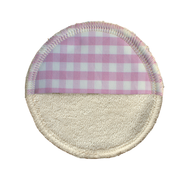 makeup remover pad washable - ORGANIC cotton lilac/white