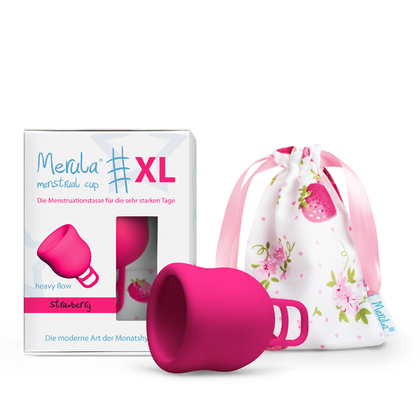 Merula Menstruationstasse strawberry XL